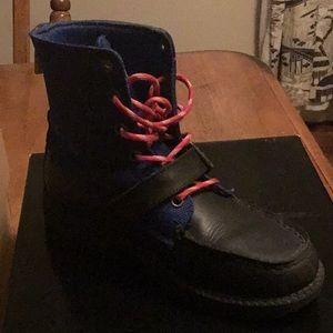 Worn once Big Kids Polo Boots size 4